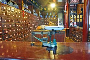 China Shanghai Zhujiajiao antique medicine shop